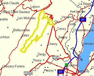 Au sommet de la Haute Chaine - Le Crêt de la Neige - 17/02/2010 Carte