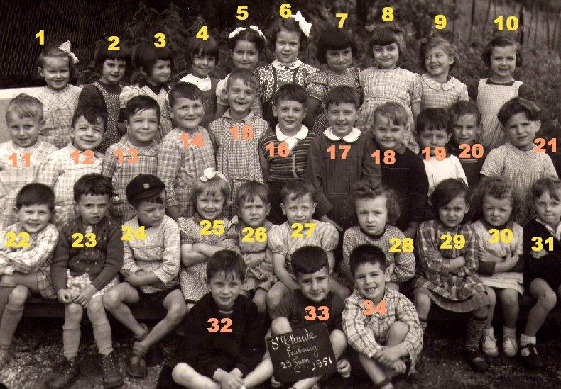 Quelques photos d'école - Classe 1966 - à Saint-Claude (39) 1950-1951_maternelle