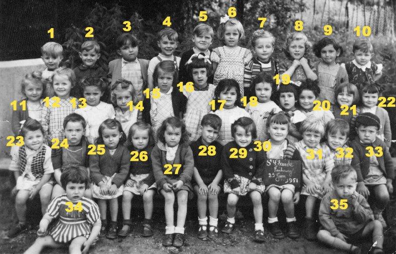 Quelques photos d'école - Classe 1966 - à Saint-Claude (39) 1950-1951_maternelle_2