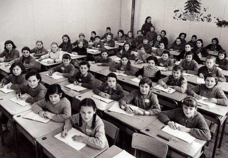 Quelques photos d'école - Classe 1966 - à Saint-Claude (39) 1957-1958_6eme_sup