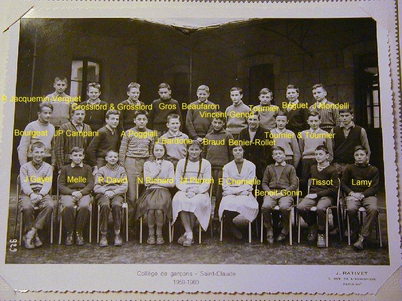Quelques photos d'école - Classe 1966 - à Saint-Claude (39) 1959-1960_4eme