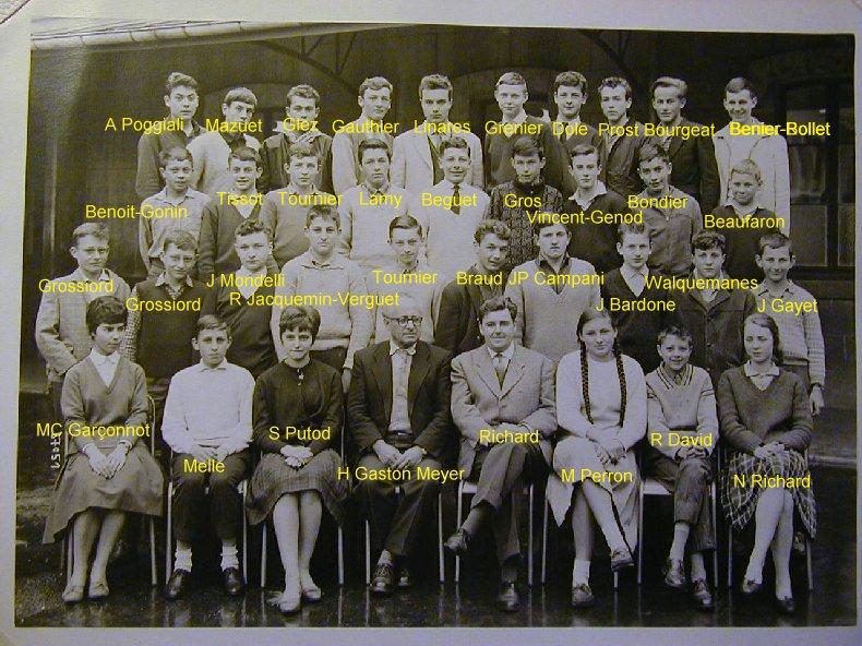 Quelques photos d'école - Classe 1966 - à Saint-Claude (39) 1960-1961_3eme