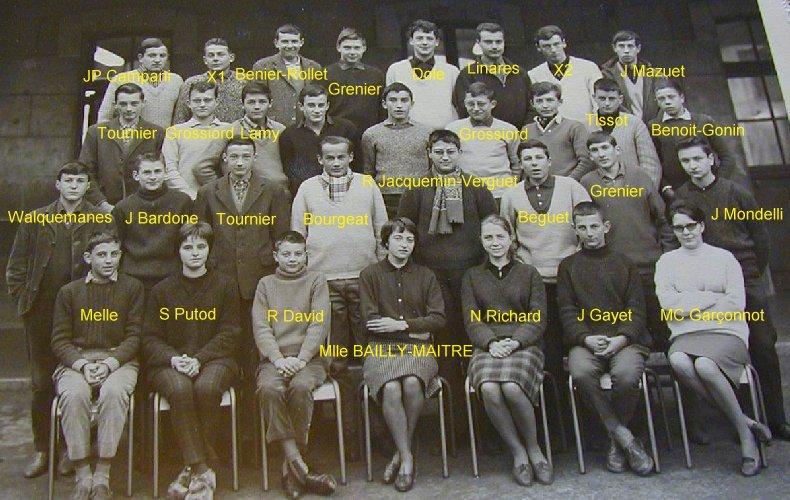 Quelques photos d'école - Classe 1966 - à Saint-Claude (39) 1961-1962_seconde