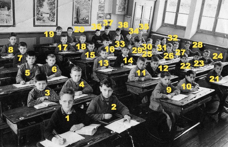 Quelques photos d'école - Classe 1966 - à Saint-Claude (39) Fbg