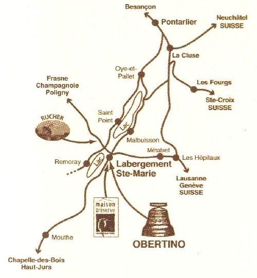 La Fonderie de cloches-Obertino - Labergement Ste Marie (25) Carte_001