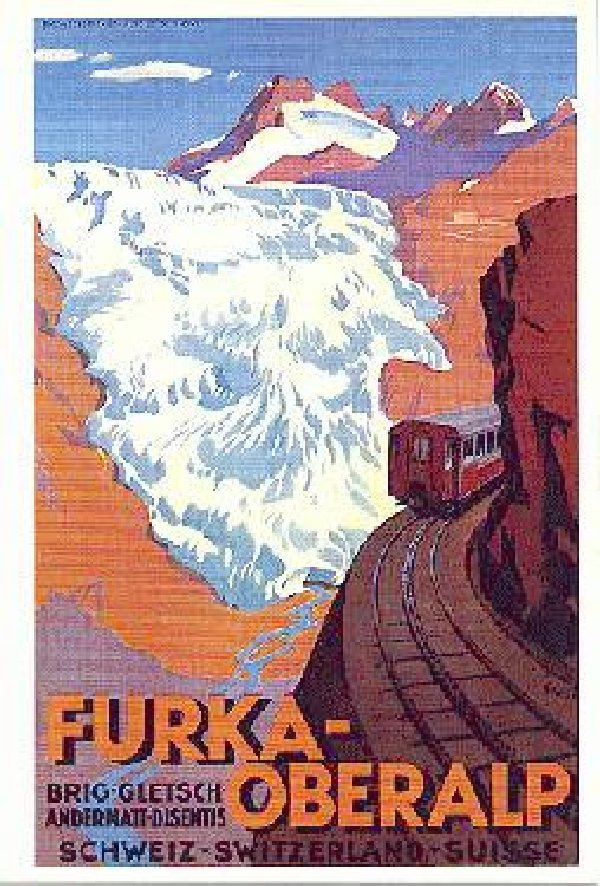La Furka Bergstrecke ( Entre Uri et Valais ) Affiche