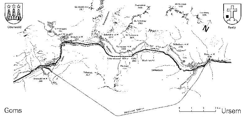 La Furka Bergstrecke ( Entre Uri et Valais ) Plan