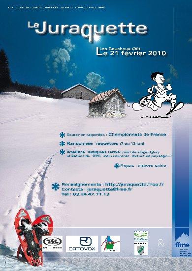 En marge de la Juraquette 2010 - Hélène L; le 21 février Affiche