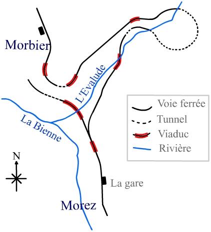La ligne des Hirondelles - 39 Carte