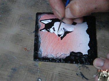 2007-08-16 : Patrick Verdier peint sur ardoise, sur peau, sur carrosserie ... 0012