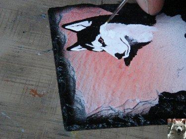 2007-08-16 : Patrick Verdier peint sur ardoise, sur peau, sur carrosserie ... 0013