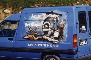 2007-08-16 : Patrick Verdier peint sur ardoise, sur peau, sur carrosserie ... 0017
