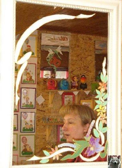 Valérie peint sur le verre - Ney (39) 10 juin 2008 0001