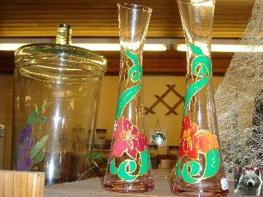 Valérie peint sur le verre - Ney (39) 10 juin 2008 0004