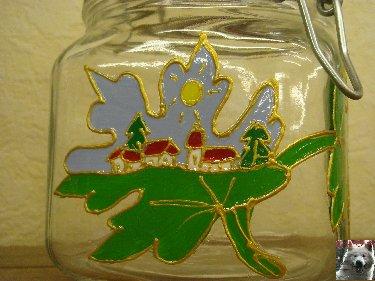 Valérie peint sur le verre - Ney (39) 10 juin 2008 0010
