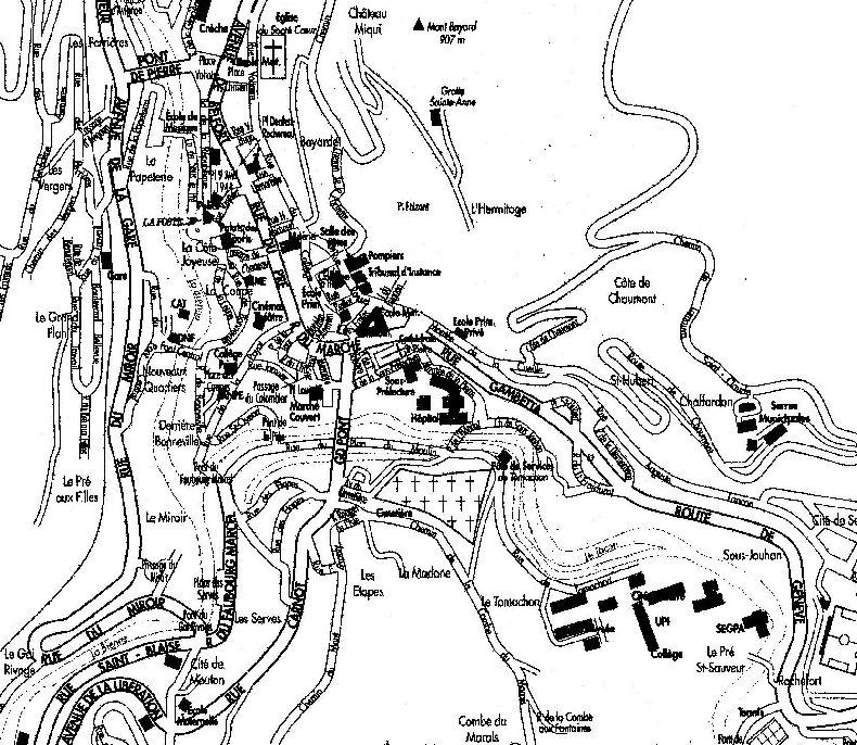Saint-Claude au début du XX siècle (39) Plan