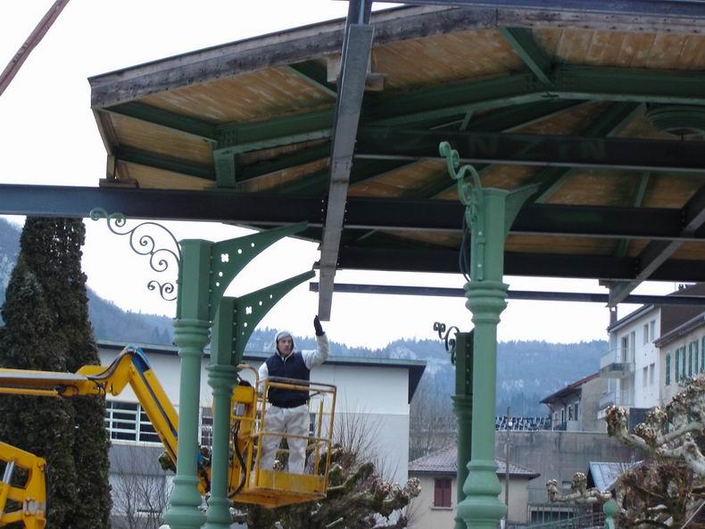 Restauration du kiosque à musique du Truchet - St-Claude 0009