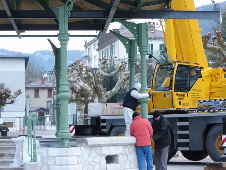 Restauration du kiosque à musique du Truchet - St-Claude 0011