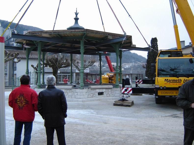 Restauration du kiosque à musique du Truchet - St-Claude 0015