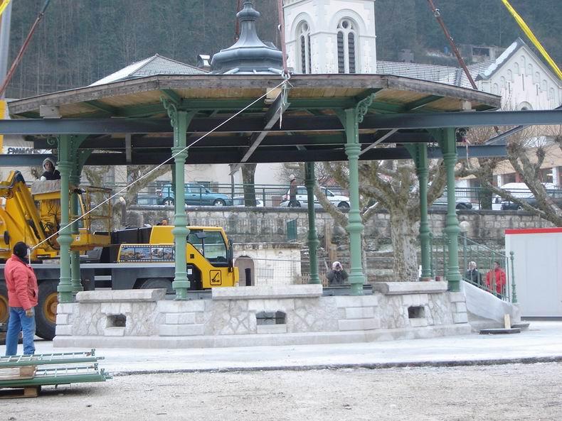 Restauration du kiosque à musique du Truchet - St-Claude 0017