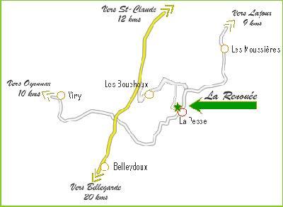 Les Tavaillons dans le Ht-Jura - Les Bouchoux - La Pesse (39 Acces