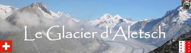 Dans le Valais - le plus grand glacier alpin - Aletsch Logo