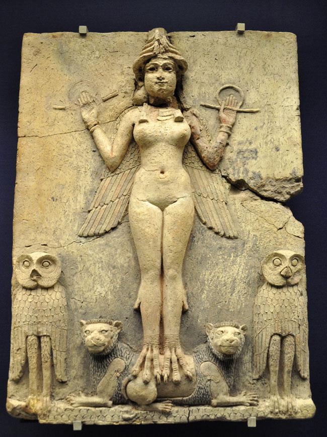 Lilith, la prima donna e madre dei demoni Lilith-ishtar-babilonia-650