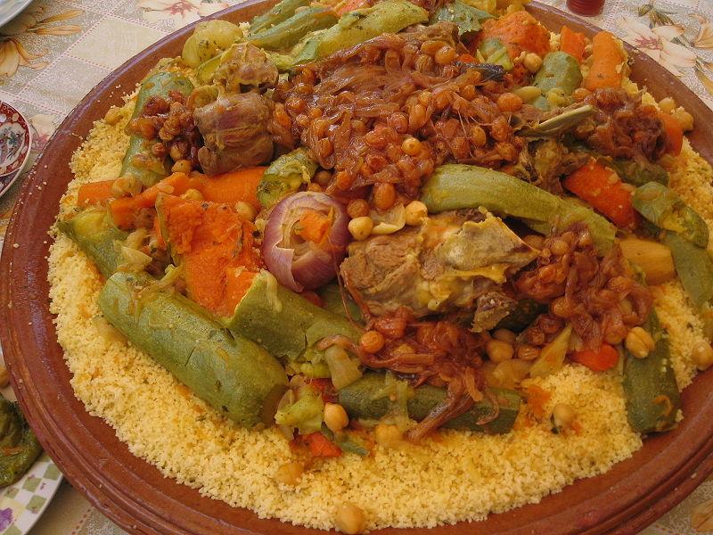 Maroko Moroccan-food-couscous