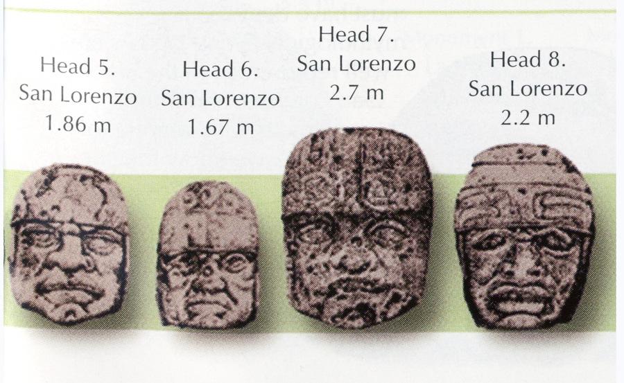 Les Olmèques. L'Enigme Olmèque Olmec-heads-1