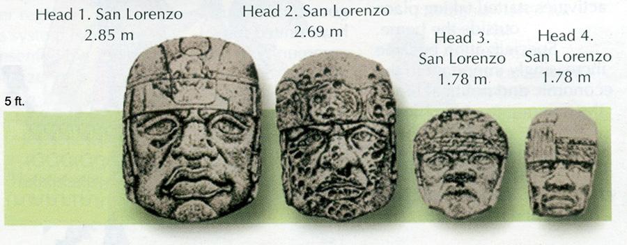 Les Olmèques. L'Enigme Olmèque Olmec-heads