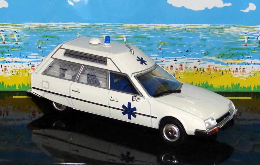 """Citroën miniatures > """"Ambulances, transports de blessés et assistance d'urgence aux victimes"""" CXHeuliez"""