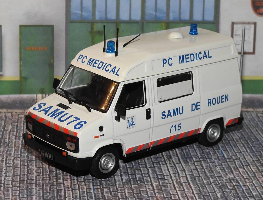"""Citroën miniatures > """"Ambulances, transports de blessés et assistance d'urgence aux victimes"""" Samu76a"""