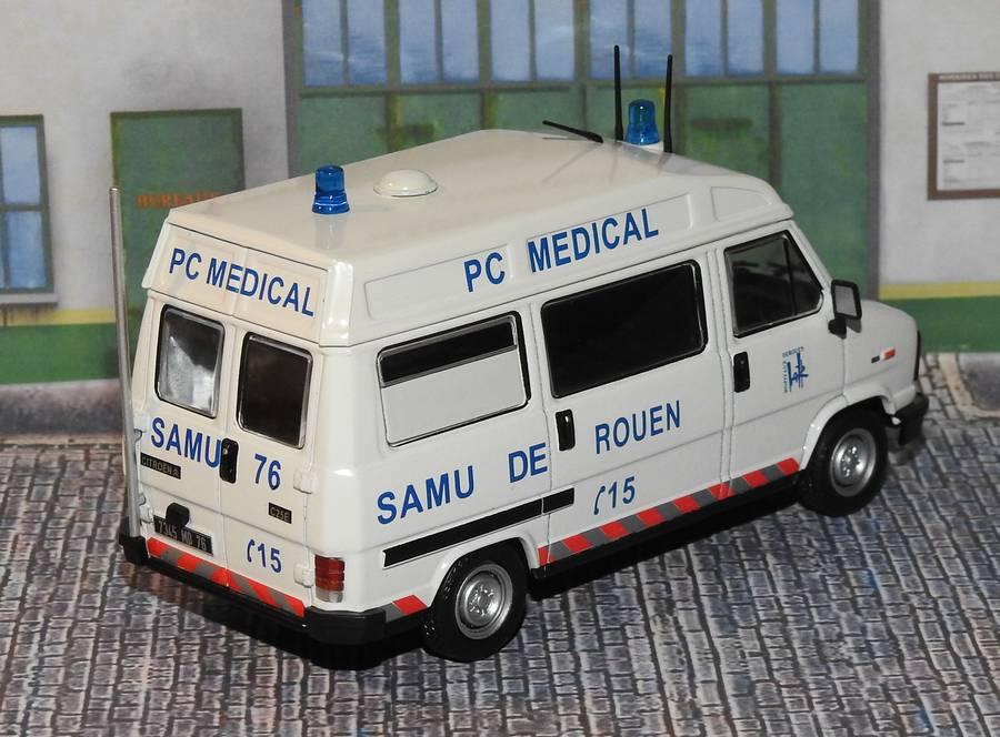 """Citroën miniatures > """"Ambulances, transports de blessés et assistance d'urgence aux victimes"""" Samu76b"""