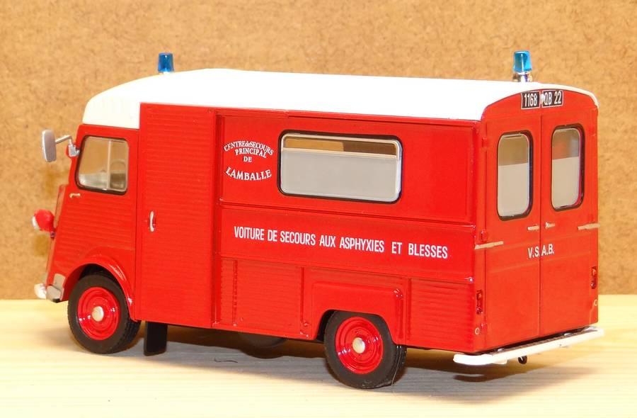 """Citroën miniatures > """"Ambulances, transports de blessés et assistance d'urgence aux victimes"""" Pomp101b"""