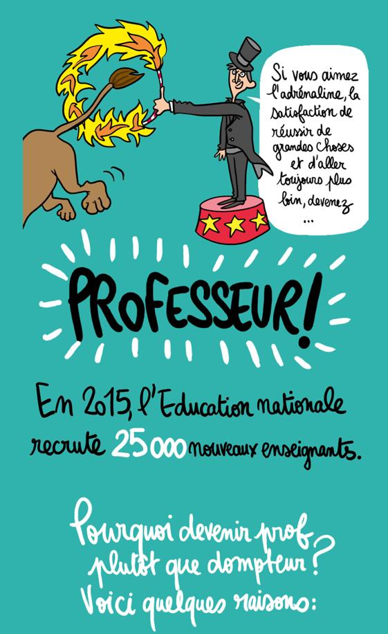 Le gouvernement lance une grande campagne publicitaire pour recruter des enseignants. 20150121