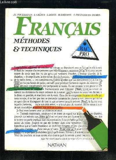 Je recherche un manuel fe français bac pro des années 90 RO80154210