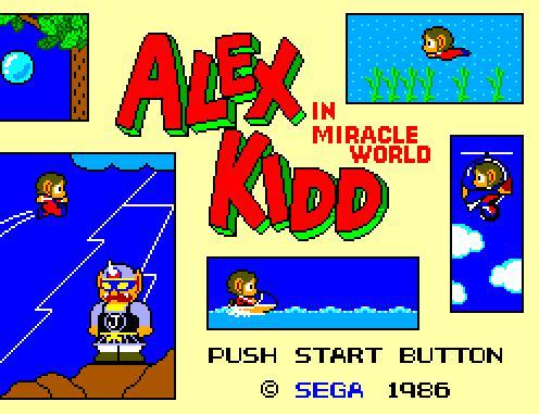 Vos tout premier jeux Alex-kidd
