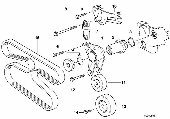 Courroies accessoires P38 Diesel 152089213017981
