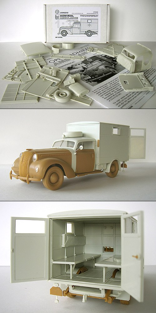 Opel ambulance 1/35  kit ICM et scratch  L35206-0