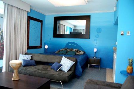 Idées pour une chambre parentale Chambre-design-bleu