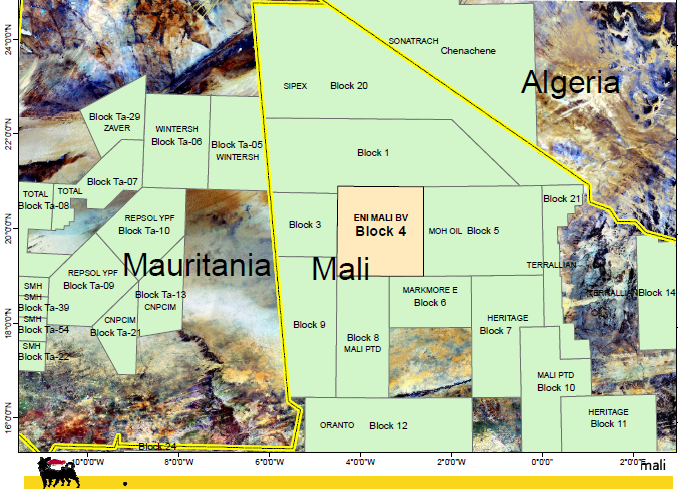 Mali : le pétrolier algérien Sonatrach suspend l'exploration du bassin de Taoudeni Taoudeni-basin-mali-mauritanie-algerie
