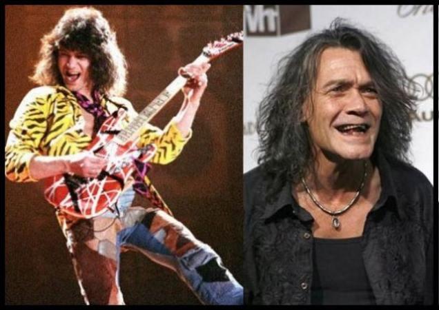 chanteurs et acteurs avant et aujourd hui  - Page 2 Eddie-Van-Halen-Then-Now