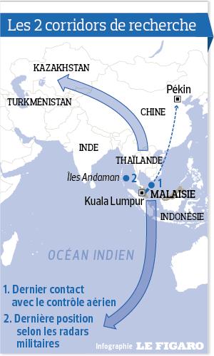 Malaysia Airlines Boeing 777-200ER Vol MH-370 immatriculé 9M-MRO porté disparu - Page 34 201413_malaisie_boeing_mh370