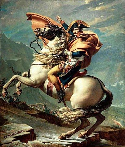 SIMPSON, c'est fini !!! (et le calva dans le café du matin aussi)  409px-David_-_Napoleon_crossing_the_Alps_-_Malmaison1