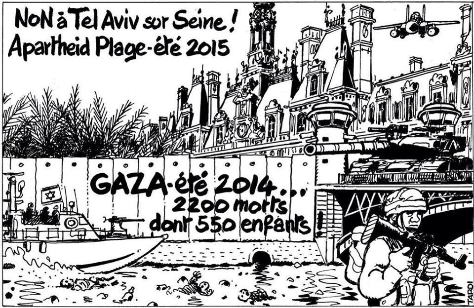 Israël/Palestine - Page 36 Telaviv-sur-seine-sang-apartheid