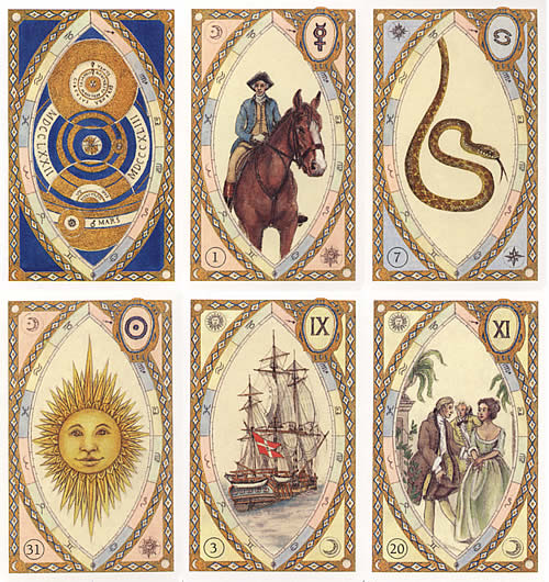 versions - Les différentes versions des  cartes Lenormand Astrologisches-lenormand