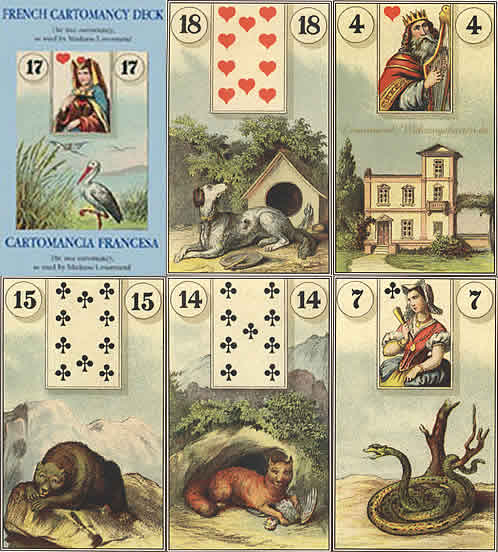 versions - Les différentes versions des  cartes Lenormand French-cartomancy