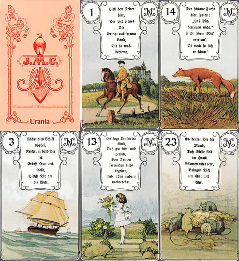 versions - Les différentes versions des  cartes Lenormand Rote-eule