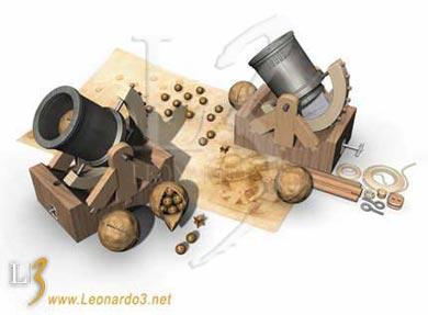 Interesting mechanism with two bows Leonardo%20da%20Vinci%20-%20L3%20www.leonardo3.net%20-%205%20bombarda
