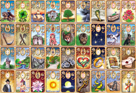 Majectic Lenormand / Magisches Lenormand ► Sandy Pfutsch & Gabriele Buttne Lenormand-majectic